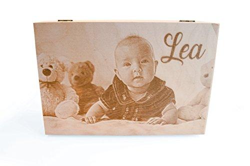 Baby Box in legno con foto e dedica Personalizzata individuale | promemoria Box 235X 160mm | Scatola di legno |holzkassette |gravina qualità prodotto