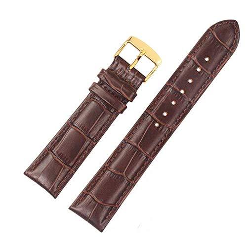 FOUUA Cinturini per cinturini Cinturino in vera pelle Cinturini per cinturino di ricambio in rilievo in alligatore Oro argento 12 13 14 15 16 17 18 19 20 21 22 24mm