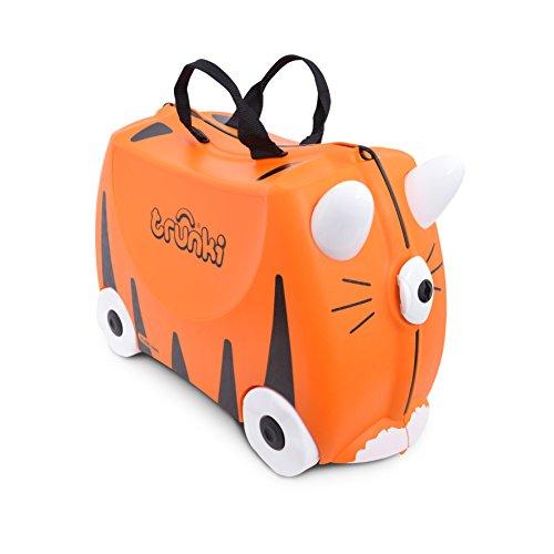 Trunki Valigia Cavalcabile Per Bambini: La Tigre Tipu (Arancione)