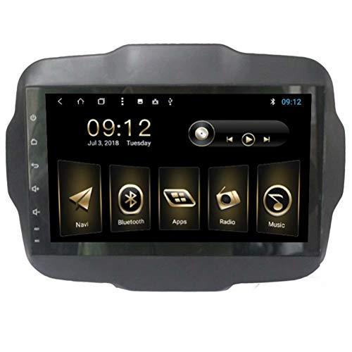 Topnavi 22,9cm video per Jeep Renegade 20162017Android 8.1autoradio auto GPS Navigation stereo con lettore Octa Core 32GB ROM 2GB RAM WiFi 3G RDS specchio Link FM AM Bluetooth Audio