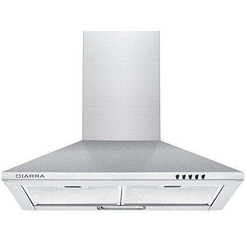 Ciarra, cappa da cucina 60cm in acciaio inossidabile (argento)