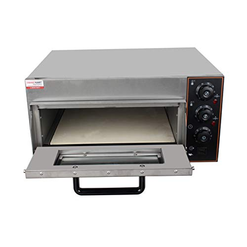 Bhavya enterprises Commercial SS 304 Stone Base Stainless Steel Pizza Oven with Timer for Baking (Deck Size 16 x16-inch)