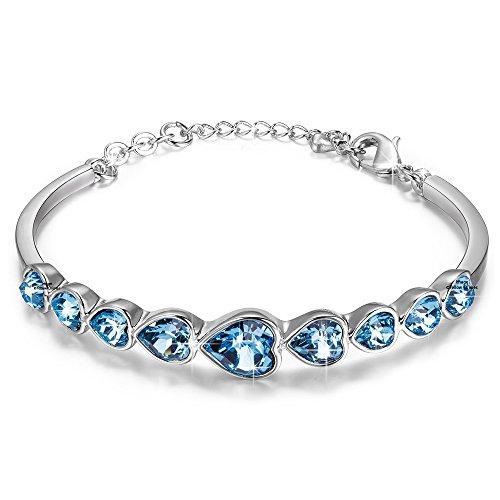 Yellow Chimes Non Precious Metal Bracelet for Women (Blue)(YCSWBR-0012750-BL)