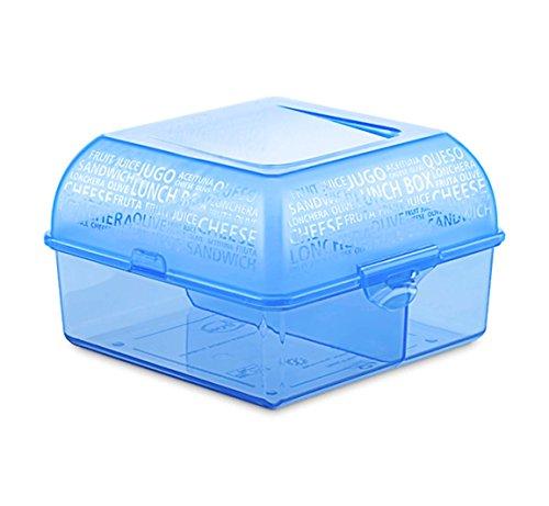 homestuff4you Lunchbox BPA Frei - Brotdose Bento Box mit Fächern für den einfachen und sicheren Transport von Lebensmitteln im Alltag (Blau)