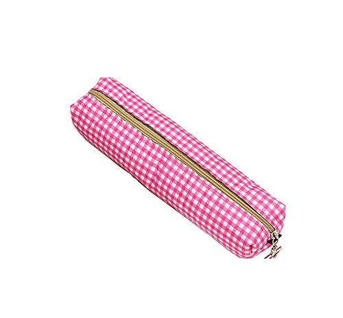 Monbedos 1pz matita di cosmetici borsa a scacchi matita borsa cancelleria borsa per bambine scuola...