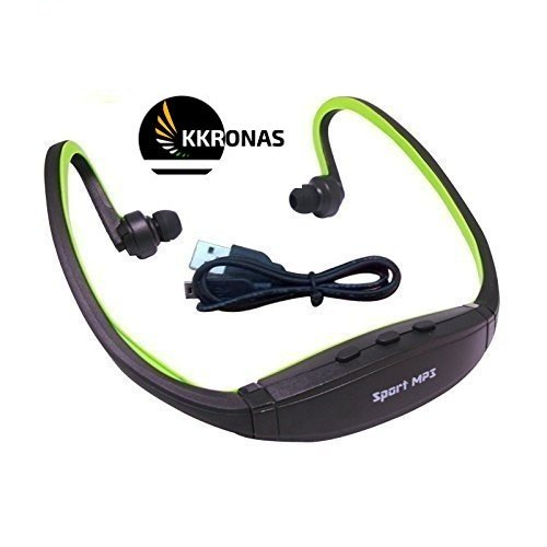 KKRONAS BS-19C Sports Bluetooth 4.0 Headphones with Micro SD Card Support, Fm Radio Functionality for All Apple Android Devices (Multicolour)