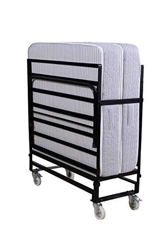 Springtek Roll Away Folding Space Saving Bed with Free 6-Inch Foam Mattress