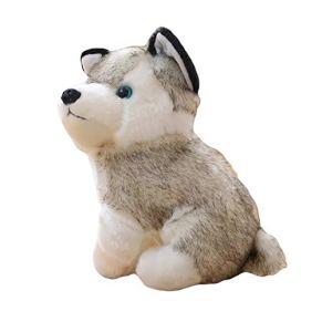 Astrryfarion Lindo Juguete de Peluche, simulación Husky Dog Juguete de Peluche Cachorro Animal Relleno niños niñas…