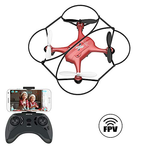 ATOYX AT-96 FPV Mini Drone con Telecamera, 2.4GHz 4CH a 6 Assi Gyro RC Quadcopter Drone con HD...