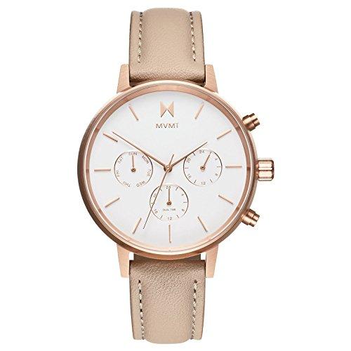 MVMT Damen Multi Zifferblatt Quarz Uhr mit Leder Armband D-FC01-RGNU