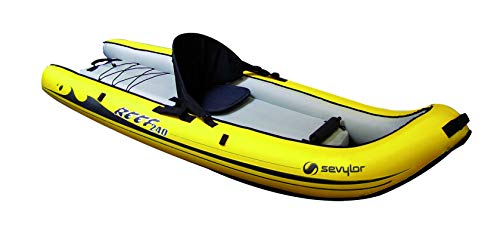 Sevylor Explorer 240-Sit 1 Personne Jaune Avec Sac Bote Inflable, Sit on Top Reef(TM) 240, 240x88 cm