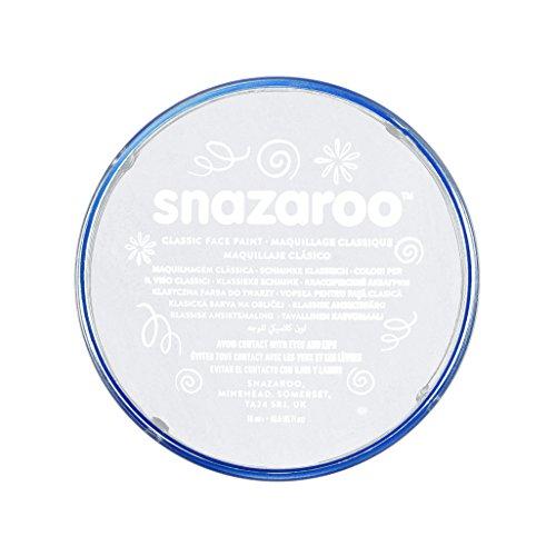 Snazaroo - Pintura facial y corporal, 18 ml, color blanco