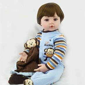 Binxing Toys Reborn Toddler niño 24 Pulgadas Reborn muñecas de Seguridad de Cuerpo Blando probadas para Mayores de 3 años