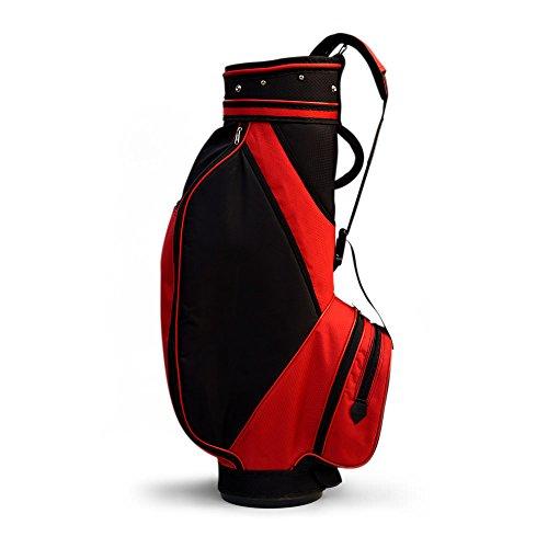 Golfoy Fat Zipperhead Golf Cart Bag (Black/Red)