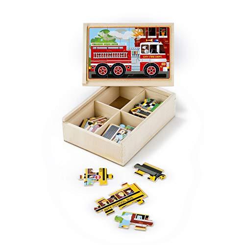 Melissa & Doug 4 Puzzle In Scatola Di Legno - Veicoli
