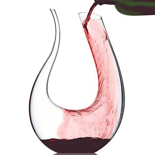 Doctor Hetzner Decanter 1200ml, Caraffa da vino, Decantatore di vino Aeratore, Decanter von per vino...