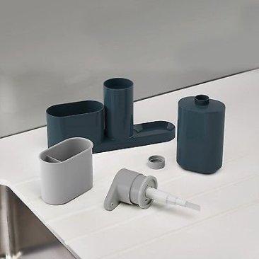 New Arrival Plastic 2 In 1 Multipurpose Sink Tidy Set Liquid Soap Dispenser, Standard, Multicolour 6