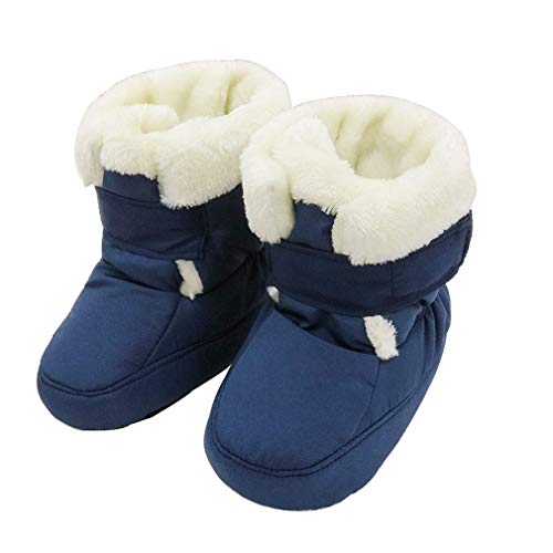KVbaby Bambini Invernali Calzature Bebè per Stivali Caldi Antiscivolo Scarpine Prewalkers Fondo Morbido Carina Stivali