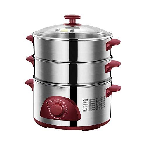 Piroscafo elettrico per alimenti, piroscafo multifunzione a tre strati, grande capacità, verdure...