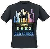 Les Gardiens De La Galaxie Old School T-Shirt Manches Courtes Noir XXL
