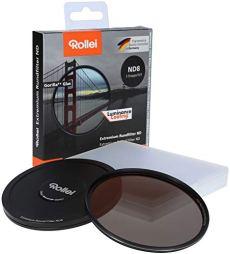Rollei Extremium Round Filter ND8 Stopper 62 mm - Filtro de densidad neutra con anillo de titanio de vidrio Gorilla con revestimiento especial - ND8 (3 paradas / 0,9)