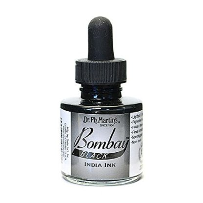 Dr. Ph. Martin's Bombay India Ink, 1.0 oz, Black (7BY)