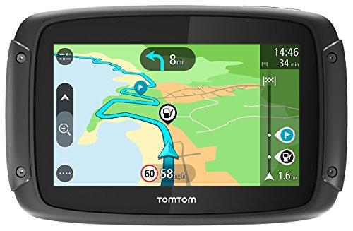TomTom Rider 42 Motorrad-Navi (4,3 Zoll, mit kurvigen und bergigen Strecken Speziell für Motorräder, Karten-Updates, Regional 19 Länder, TomTom Traffic und Radarkameras-3 Monate, Freisprechen)
