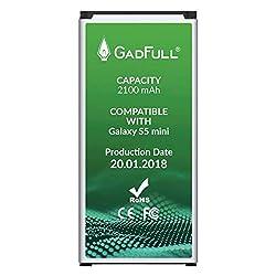 Kaufen GadFull Akku für Samsung Galaxy S5 Mini | 2018 Baujahr | Wie EB-BG800BBE | Lithium-Ionen-Akku der Modelle SM-G800F | Duos SM-800H | Ersatz Handy-Akku für Ihr Smartphone