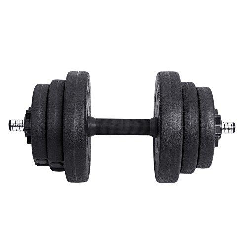 SONGMICS Kit haltères Musculation, Poids Ajustable, avec Barre d'Extension Supplémentaire, 10 kg, 20 kg, pour Hommes et Femmes, Musculation,... 26