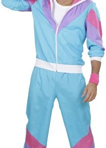 WIDMANN Disfraz 80s Shell Retro - Chándal para adulto, Multicolor (Azul/Lila/Rosa), talla del fabricante: XL , color…