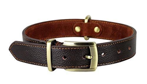 Rantow cuoio molle Collare regolabile per cani, formato del collo 43 centimetri per 53 centimetri e...