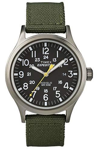 Timex Chesapeake T49961, Orologio da polso Unisex - Adulto, Nero (Nero/Verde)