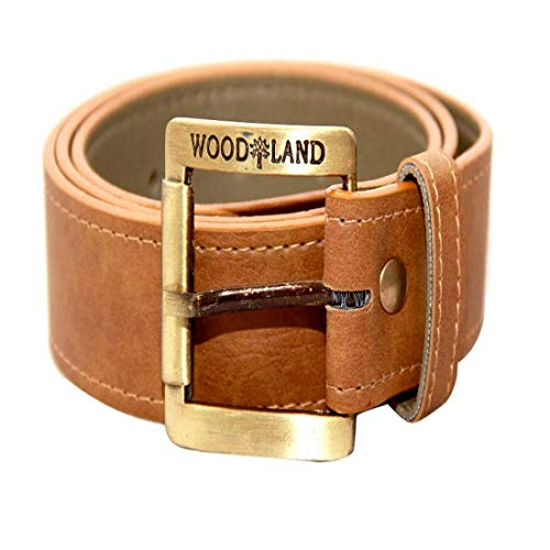 MJ Forever Men's PU Leather Casual and Formal Belt (Tan, Free Size)