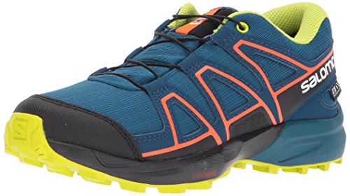 Salomon Speedcross CSWP J, Zapatillas de Trail Running Unisex para Niños, Azul (Moroccan Blue/Poseidon/Scarlet Ibis 000), 33 EU