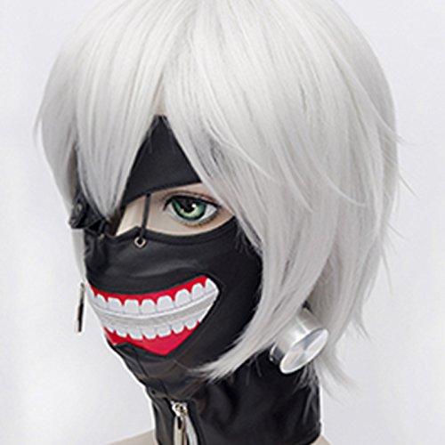 tokyo ghoul kaneki ken masque halloween cosplay anime costume accessories en cuir r glable. Black Bedroom Furniture Sets. Home Design Ideas