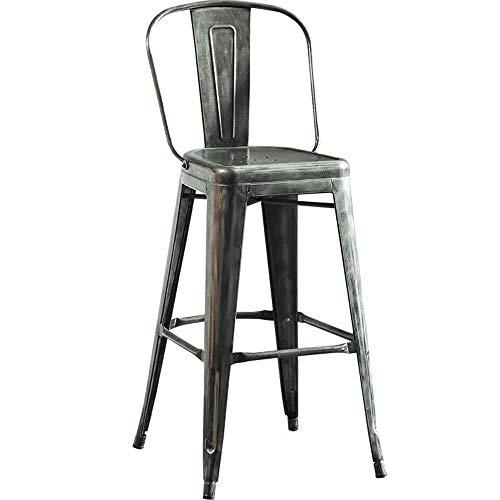 Sgabelli da Bar la Seggiola Tavolo Sgabello Alto, poggiapiedi in Metallo Sedile Quadrato Ferro da...