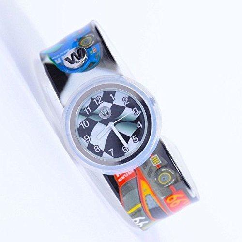 Reloj de pulsera para niños y niñas, a prueba de torceduras, con círculo de ganador