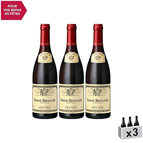 Vosne-Romanée Rouge 2015 - Louis Jadot - Vin AOC Rouge de Bourgogne - Cépage Pinot Noir - Lot de 3x75cl