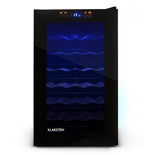 Klarstein HEA-MKS-2 Cantinetta per vino mini frigo bar (28 bottiglie, 70 litri, illuminazione...