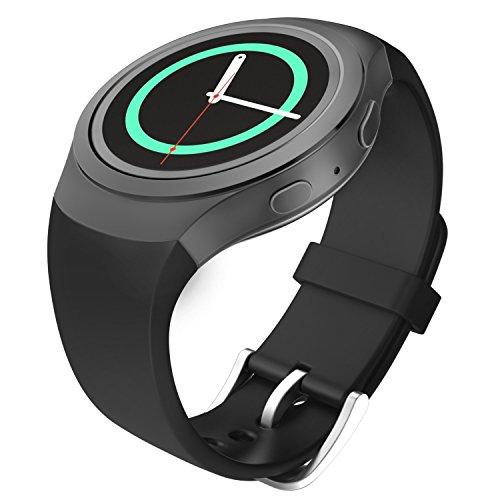 MoKo Samsung Watch Bracciale, Morbido Cinturino Sportivo di Ricambio in Silicone per Samsung Galaxy Gear S2 Smart Watch, NERO (Non adatto a Gear S2 Classic SM-7320 Versione)