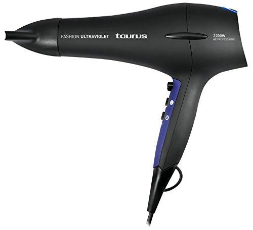 Taurus Fashion Ultraviolet - Secador de pelo (2200 W, 2 velocidades, 3 temperaturas) color negro y violeta