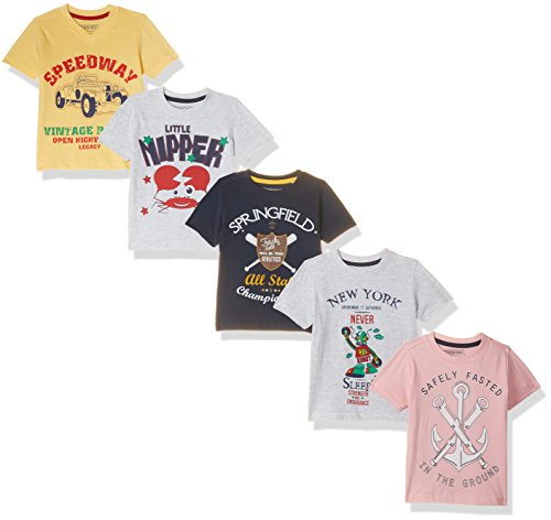 Cherokee by Unlimited Boys' T-Shirt (Pack of 5)(400016980806_Assorted_07Y)