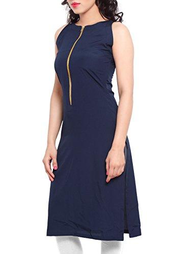 Sky Creation Women's Cotton Kurti (1523485_NAVY BLUE_Free Size)