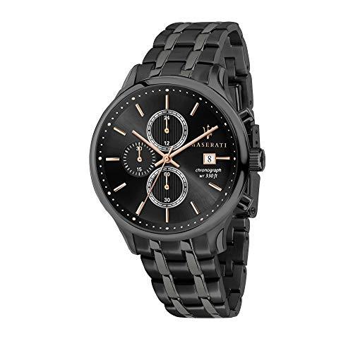 Orologio da uomo, Collezione Gentleman, con movimento al quarzo e funzione cronografo, in acciaio e PVD canna di fucile - R8873636003