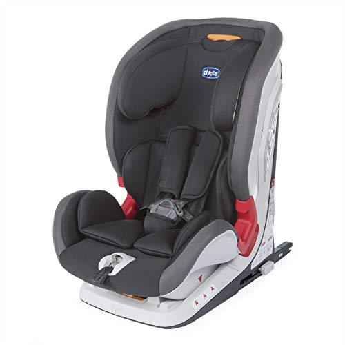 Chicco Youniverse Fix Seggiolino Auto 9-36 kg, Gruppo 1/2/3 per Bambini da 1 ai 12 Anni, Reclinabile, Nero