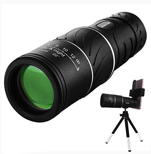 16x52 Monocolo Professionale Per Cellulare, AOBETAK HD Potente Cannocchiale BAK4 Ottico Monoculare...