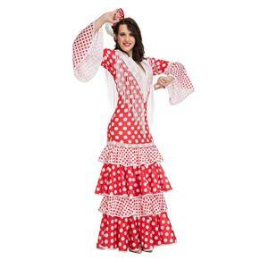 My Other Me Me-203861 Disfraz de flamenca Rocío para mujer, color rojo, S (Viving Costumes 203861)