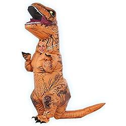 Jurassic World - Disfraz hinchable de dinosaurio T-Rex para niños, infantil Talla única (Rubie's 610821)