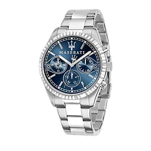 MASERATI Orologio Cronografo Quarzo Uomo con Cinturino in Acciaio Inox R8853100013