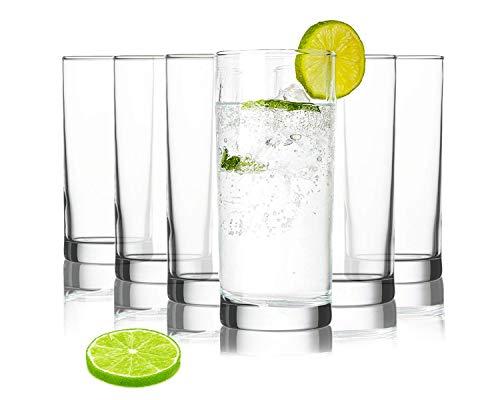 Tivoli Istanbul Bicchieri per Acqua - 275 ml - Set da 6 – Bicchieri di Alta qualità – Lavabili in Lavastoviglie – Bicchieri di Cristallo - con Segno di Misura